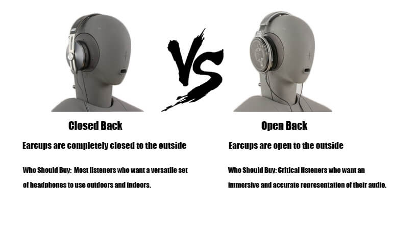 open vs closed back headphones